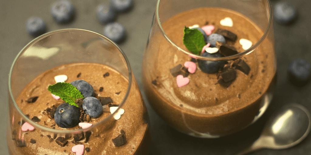 Dessert minceur inratable Mousse au chocolat sans lactose biostimology